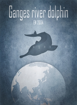 extinct endangered animals of India Ganges Yangtze baiji freshwater river dolphins India China
