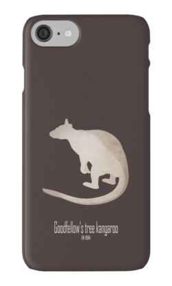 iphone cases skins wallets tough snap Samsung galaxy -goodfellow's tree kangaroo-extinct endangered rainforest animals-marsupials tropical rainforests Indonesian Islands endemic-ornate tree kangaroo Dendrolagus goodfellow New Guinea montane tropical forests IUCN overhunting habitat loss illegal trade