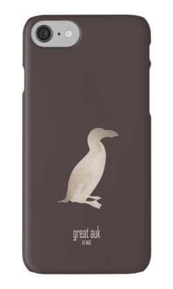 iphone cases skins wallets tough snap Samsung galaxy -great auk-extinct critically endangered birds-sea ocean aquatic animals waterbird waterfowl North-Atlantic -Pinguinus impennis flightless 19th century oceans coastal waters Native Americans culture symbol