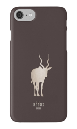 iphone cases skins wallets tough snap Samsung galaxy -addax-save wildlife nature planet earth environment-logo poster endangered species Africa Sahara desert-white screwhorn antelope Addax nasomaculatus IUCN critically overhunting conservation captive breeding programs