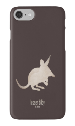iphone cases skins wallets tough snap Samsung galaxy -cute lesser bilby/yallara-extinct critically endangered animals of Australia-desert marsupial nocturnal foreign preadators-rabbit-eared white-tailed bandicoot 1950s