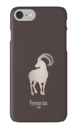 iphone cases skins wallets tough snap Samsung galaxy -pyrenean ibex-extinct endangered mammals-European mountains recent extinction hunting wildcare conservation efforts cloning-bucardo Capra pyrenaica supspecies wild goat Iberian Peninsula mountains rocky habitat DNA restoration