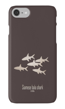 iphone cases skins wallets tough snap Samsung galaxy -siamese bala shark-extinct endangered fish species-ocean sea aquarium fishkeeping sweet water river Asia -burnt-tailed barb Balantiocheilos ambusticauda possibly freshwater endemic Mae Klong Chao Phraya River basin Thailand aquarium trade