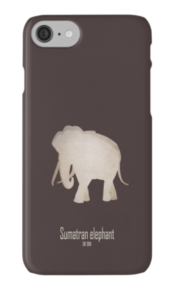 iphone cases skins wallets tough snap Samsung galaxy -sumatran elephant-near extinction endangered-Asian African subspecies poaching tusks- Elephas maximus sumatranus IUCN red list critically habitat loss agriculture poaching ivory