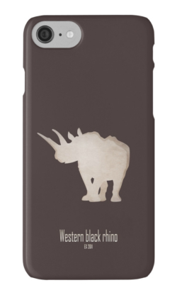 iphone cases skins wallets tough snap Samsung galaxy -western black rhinoceros-cool extinct critically endangered animals-Africa subspecies savanna poaching hunting horn recently extinct 21st century-Diceros bicornis longipes Africa savanna Cameroon IUCN red list