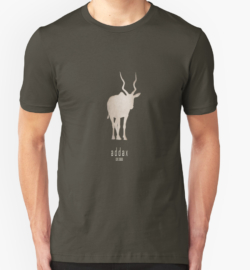t-shirt men mens womens woman man babies kids boys girls clothes apparel-addax-save wildlife nature planet earth environment-logo poster endangered species Africa Sahara desert-white screwhorn antelope Addax nasomaculatus IUCN critically overhunting conservation captive breeding programs