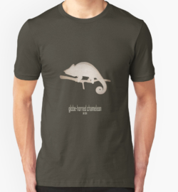 t-shirt men mens womens woman man babies kids boys girls clothes apparel-globe-horned chameleon-IUCN red list animals-vulnerable threatened critically endangered species lists names categories information-flat-casqued chameleon Calumma globifer Madagascar endemic forest illegal trade habitat loss