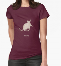 t-shirt men mens womens woman man babies kids boys girls clothes apparel-cute lesser bilby/yallara-extinct critically endangered animals of Australia-desert marsupial nocturnal foreign preadators-rabbit-eared white-tailed bandicoot 1950s