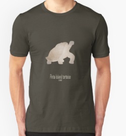 t-shirt men mens womens woman man babies kids boys girls clothes apparel-pinta island tortoise-recently extinct animals-endemic species endangered turtles Pacific ocean 21st 20th century-Lonesome George giant turtle Galápagos Ecuador Abingdon island Chelonoidis abingdonii conservation biodiversity restoration