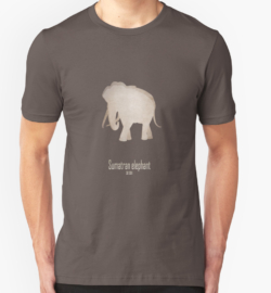 t-shirt men mens womens woman man babies kids boys girls clothes apparel-sumatran elephant-near extinction endangered-Asian African subspecies poaching tusks- Elephas maximus sumatranus IUCN red list critically habitat loss agriculture poaching ivory