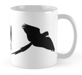 cuban red macaw mug