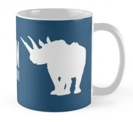 western black rhinoceros mug