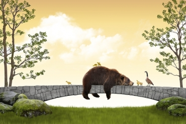 bear-tale-story-childrens-book-mama-goose-goslings-cute-family