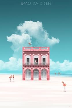Pink-House-on-Flamingo-Beach