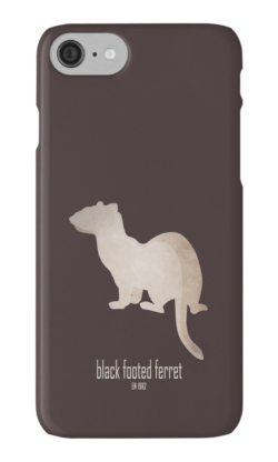 iphone cases skins wallets tough snap Samsung galaxy -black-footed ferret-wildlife conservation foundation-save wildlife organization logo emblematic cute animal-American polecat prairie dog hunter Mustela nigripes endangered IUCN North America USFWS captive breeding program reintroduction back from extinction