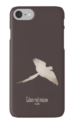 iphone cases skins wallets tough snap Samsung galaxy -cuban red macaw-extinct critically endangered animals of America-tropical birds Caribbean islands parrots picture poster -Ara tricolor Cuba Caribbean late 19th century cagebird hunting trade macaws