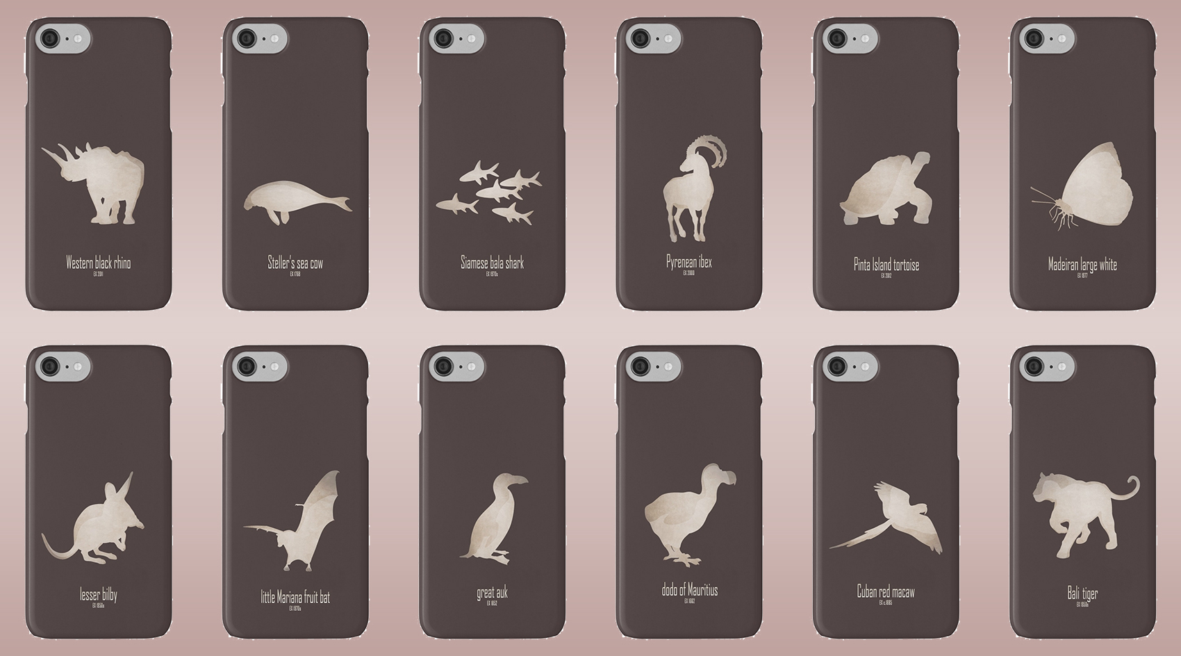 iphone cases skins wallets tough snap Samsung galaxy extinct animals names list species recently extinct 20th century 21st century IUCN red list wildlife conservation efforts save wildlife planet earth logo biodiversity environmentalist emblematic symbol