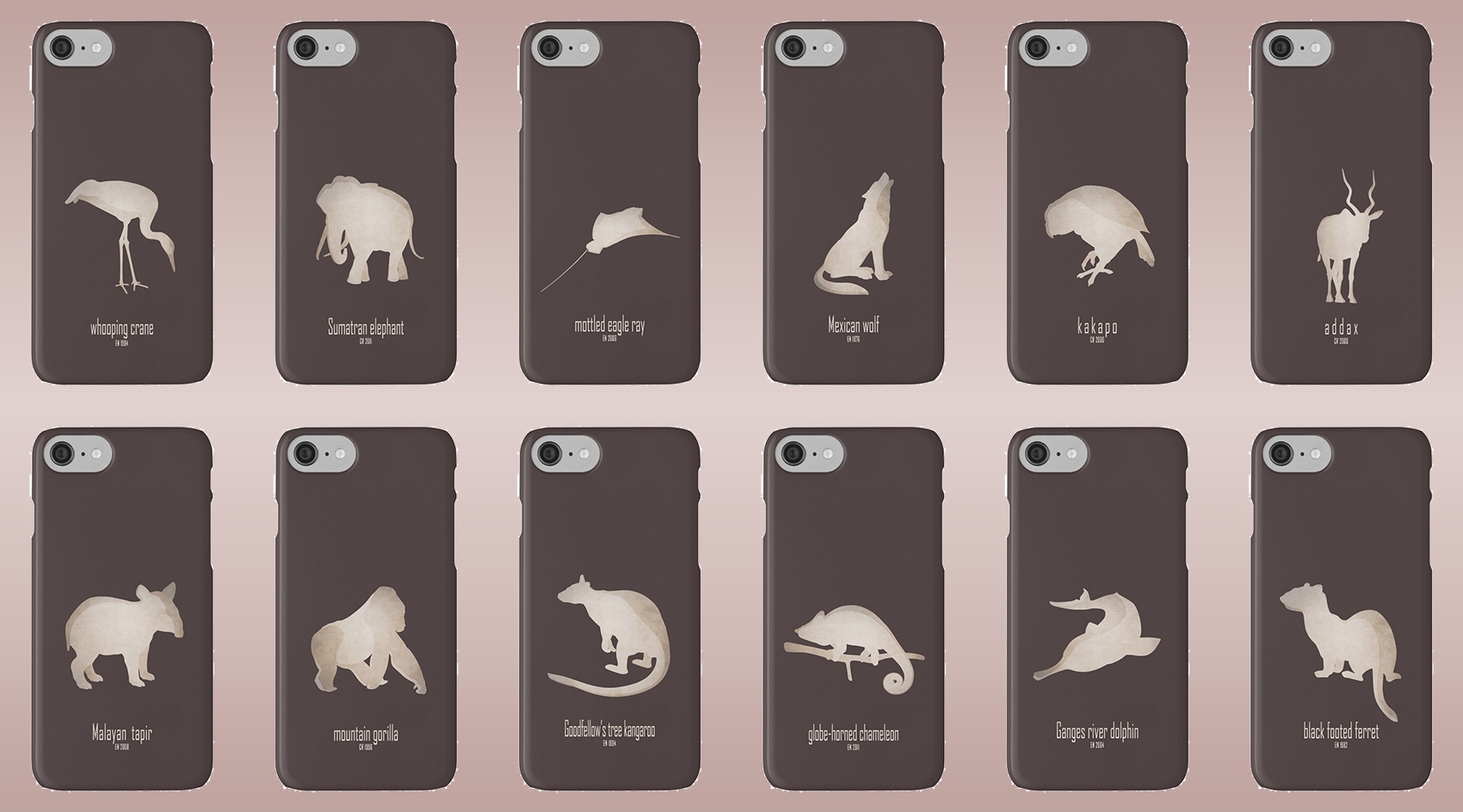iphone cases skins wallets tough snap Samsung galaxy endangered animals names list species near extinction critically wildlife conservation foundation wildcare act IUCN red list logo endemic environmentalist save planet earth emblematic symbol