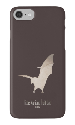iphone cases skins wallets tough snap Samsung galaxy -guam flying fox/little Mariana fruit bat-extinct critically endangered animals poster logo images pictures drawing-endemic species Pacific islands nocturnal animals-Pteropus tokudae Marianas Islands Pacific Micronesia 1970s hunting