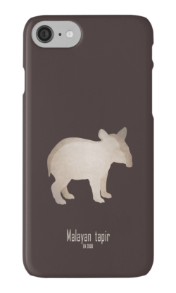 iphone cases skins wallets tough snap Samsung galaxy -indian tapir-endangered extinct cute baby animals-pictures poster images-Asian Indian Tapirus indicus Southeast Asia tropical lowland rainforests habitat deforestation human activity agriculture damming illegal trade