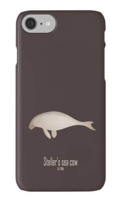 iphone cases skins wallets tough snap Samsung galaxy -steller's sea cow-weird extinct endangered animals-North Pacific commercial hunting sea mammals fishing-Hydrodamalis gigas marine dugong manatees Commander Islands hunting meat skin fat fur trade 18th century