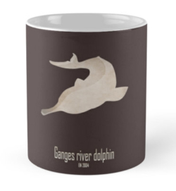 mug coffee tea cup travel -ganges river dolphin-extinct endangered animals of India-Ganges Yangtze baji sweet water river dolphins China-Platanista gangetica freshwater Brahmaputra India national aquatic animal IUCN species Indian Wildlife Act conservation CITES dolphin sanctuary
