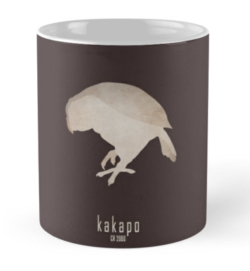 mug coffee tea cup travel -kakapo-critically endangered animals species names list-New Zealand endemic species recently discovered-night parrot owl parrot Strigops habroptilus large flightless nocturnal ground-dwelling bird endemic maori culture IUCN critically predators conservation recovery program