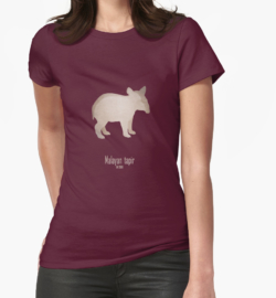 t-shirt men mens womens woman man babies kids boys girls clothes apparel-indian tapir-endangered extinct cute baby animals-pictures poster images-Asian Indian Tapirus indicus Southeast Asia tropical lowland rainforests habitat deforestation human activity agriculture damming illegal trade