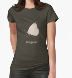 t-shirt men mens womens woman man babies kids boys girls clothes apparel-madeiran large white butterfly-endemic species normal species-islands insects butterflies logo drawing-Pieris brassicae wollastoni European laurel forest last seen 1970s island of Madeira