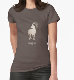 t-shirt men mens womens woman man babies kids boys girls clothes apparel-pyrenean ibex-extinct endangered mammals-European mountains recent extinction hunting wildcare conservation efforts cloning-bucardo Capra pyrenaica supspecies wild goat Iberian Peninsula mountains rocky habitat DNA restoration