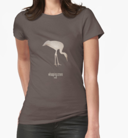 t-shirt men mens womens woman man babies kids boys girls clothes apparel-whooping crane-wildcare foundation-wildlife conservation programme efforts logo picture slogan-Grus americana North America migratory populations endangered unregulated hunting habitat loss conservation efforts USFWS recovery plans