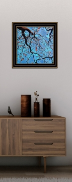 abstract painting tree branches canopy leaves autumn art