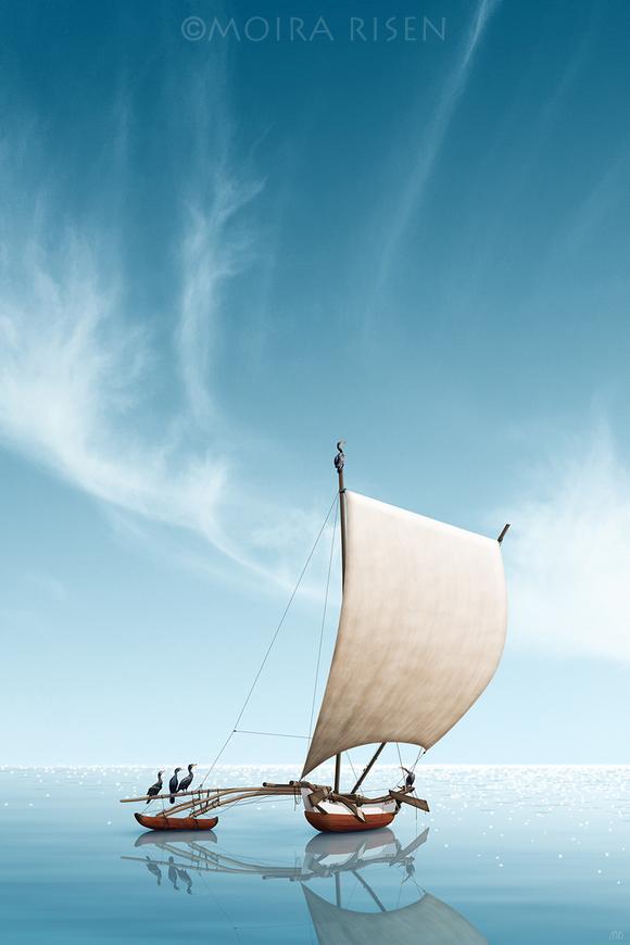 fishing boat traditional oruwa outrigger sailing sails wooden boat square sail sri lanka