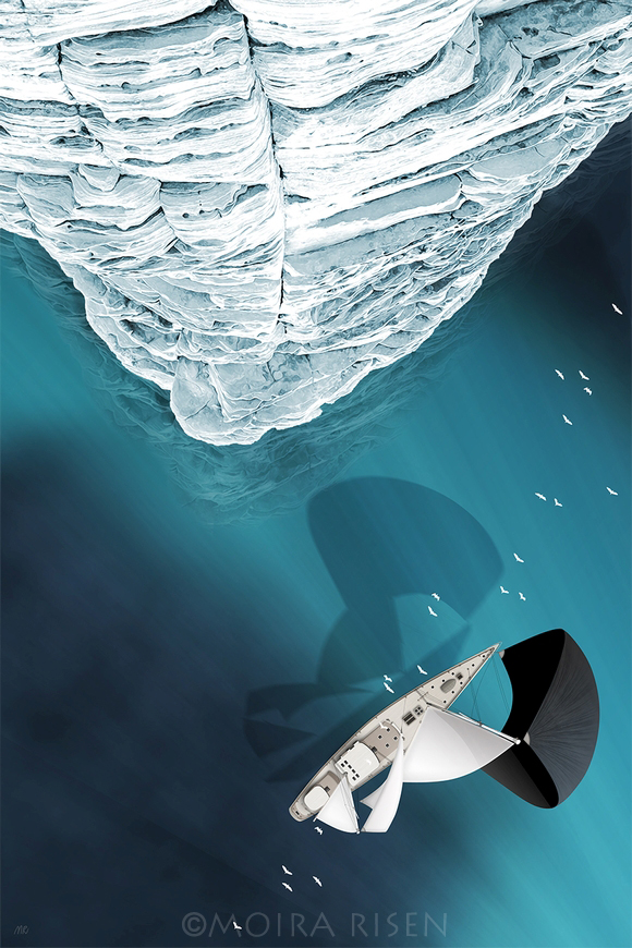 iceberg aerial arctic sea north northern baltic ice icewall floating under water stripes birds eye view from above