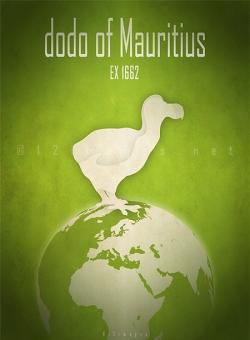 extinct animals species names list emblematic species logo poster birds