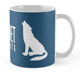 grey wolf mexican lobo mug