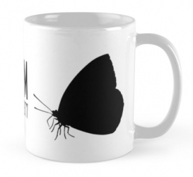 madeiran large white butterfly mug