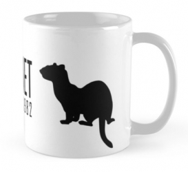 prairie dog ferret black footed mug