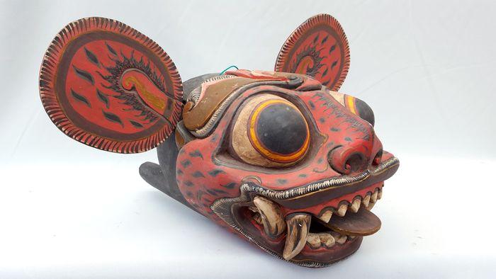 barong macan mask Balinese tiger dance