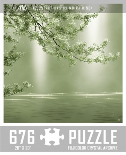 challenging-jigsaw-puzzles-green-tree-branch-reaching-above-lake