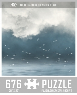 jigsaw-puzzle-misty-lake-white-birds-clouds