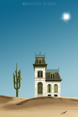Lonely-house-in-the-desert-with-Saguero-cactus-and-greater-roadrunner